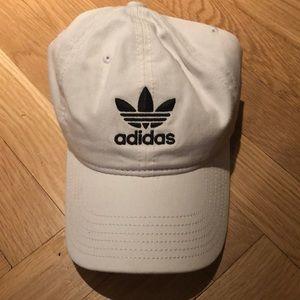 White adidas baseball hat